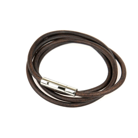 Cable Bracelet - Brown