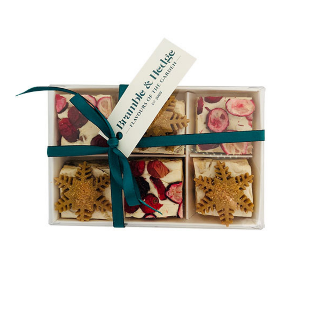 Cranberry & Gingerbread Nougat Gift Box