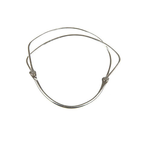 'Pure' Twin Silver Bangle no. 230