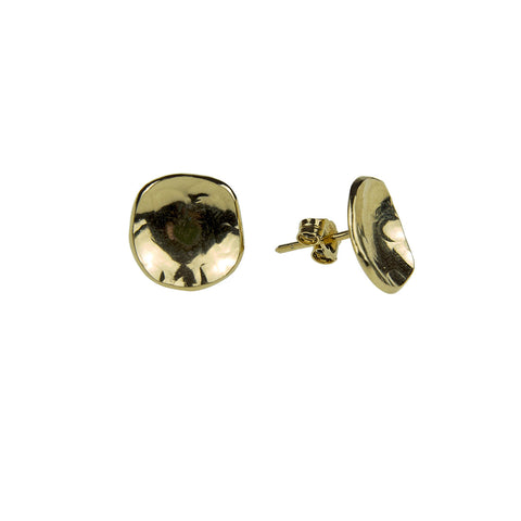 Dish Earrings Gold