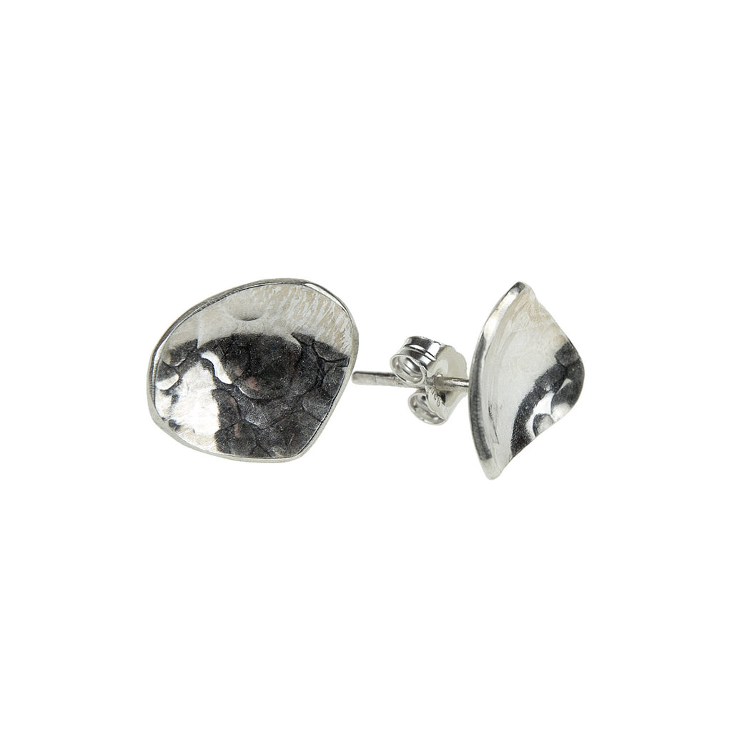 Dish Earrings Silver