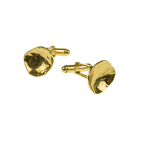 Dish Cufflinks Gold