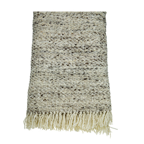 Cream Dorper Wool Throw