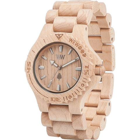 Date Wood Watch - Beige