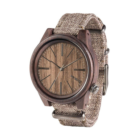 Torpedo Wood Watch - Choco Linen