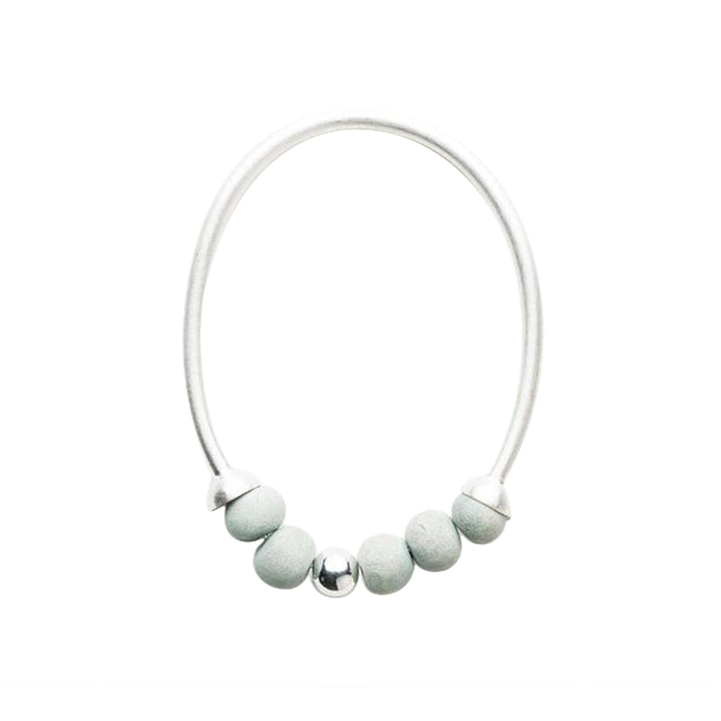 Dalilah Bangle - Seaspray & Silver