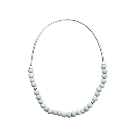 Zoya Short Necklace - Pale Seaspray & Silver