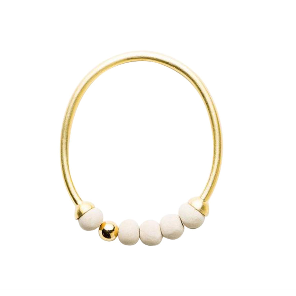 Dalilah Bangle - Stone & Gold