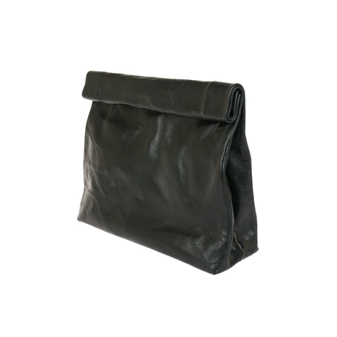 Lunch Bag Clutch - Black