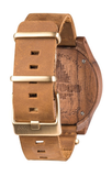 Torpedo Wood Watch - Nut Leather