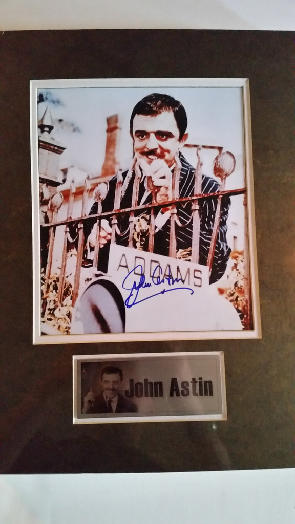 Signed photograph of John Astin as Gomez Addams