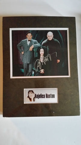 Signed photo of Angelica Houston as Morticia Addams
