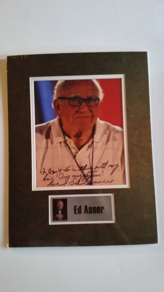 Signed photo of Ed Asner