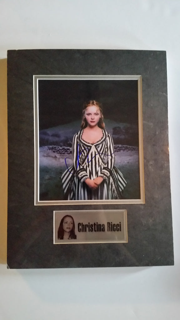 Signed photo of Christina Ricci