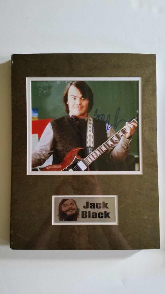 Signed photo of Jack Black from School of Rock