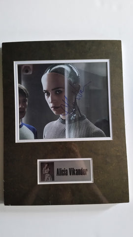 Signed photo of Alicia Vikander in Ex Machina