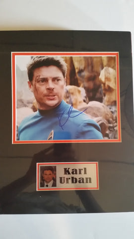 Signed photo of Karl Urban as Dr. McCoy from Star Trek