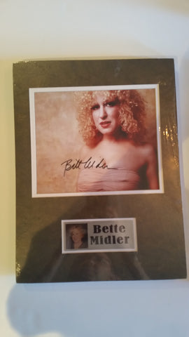 Signed photo of Bette Midler
