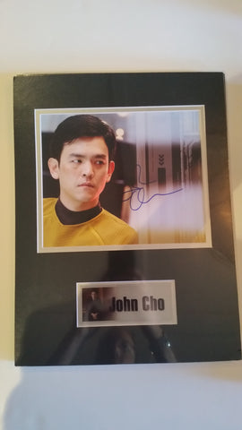 Signed photo of John Cho