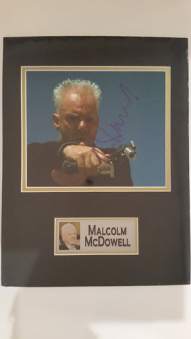 Signed photo of Malcolm McDowell