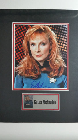 Signed photo of Gates McFadden