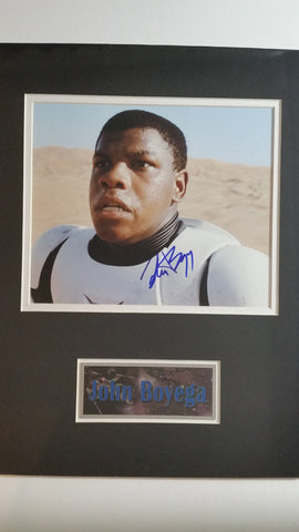 Signed photo of John Boyega