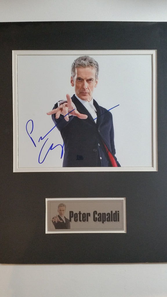 Signed photo of Peter Capaldi