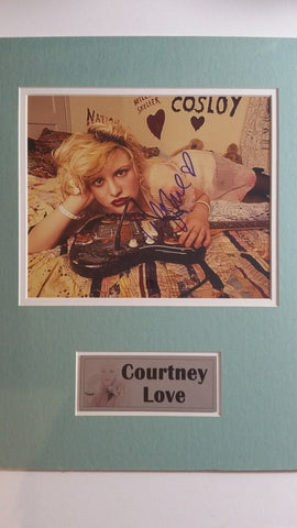 Signed photo of Courtney Love