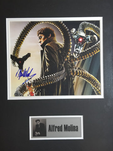 Signed photo of Alfred Molina as Doctor Octopus