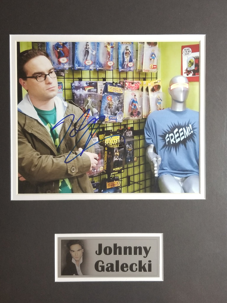 Signed photo of Johnny Galecki from The Big Bang Theory