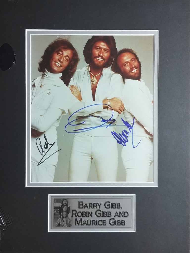 Signed photo of the Bee Gees