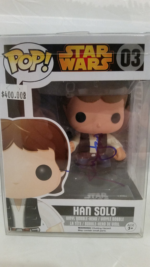Signed Vinyl Pop of Han Solo