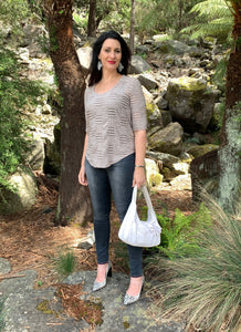 Josephene Signature Handbags in Natural Linen