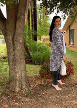 Load image into Gallery viewer, AMARIS Longline Cardi in Snow Leopard