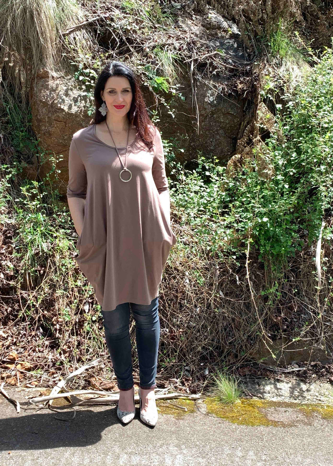 AVIVA Dress in Taupe