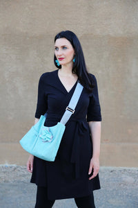 Josephene Signature Handbags in Aqua