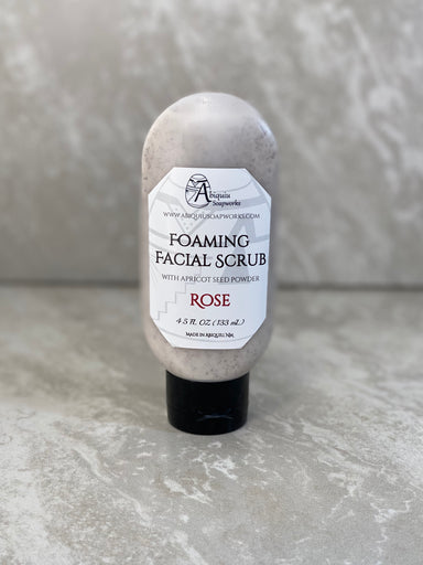 Rose Foaming Facial Scrub