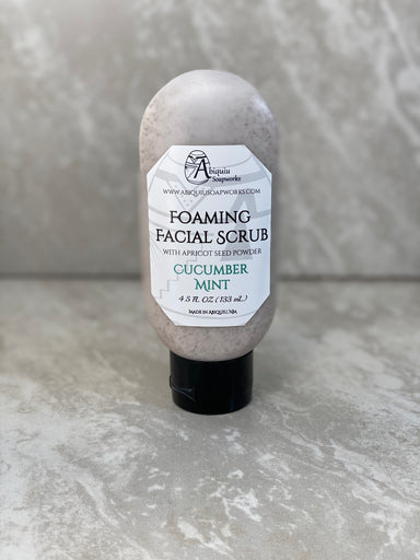 Cucumber Mint Foaming Facial Scrub