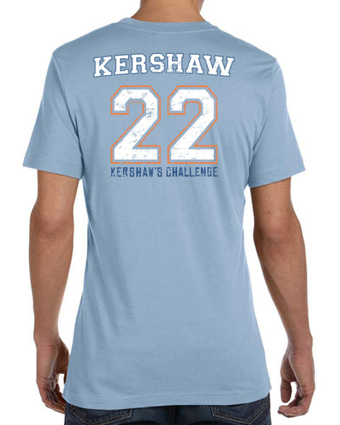 Strikeout to Serve Unisex Light Blue Tee