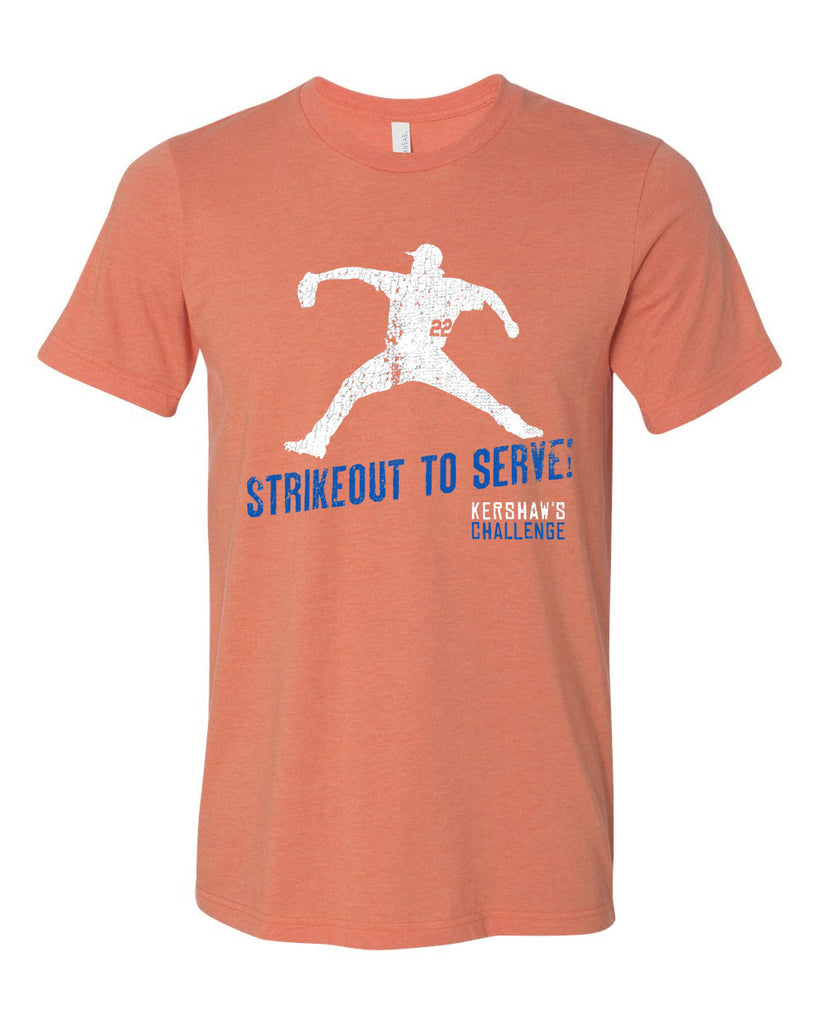 Strikeout to Serve Unisex Orange Tee