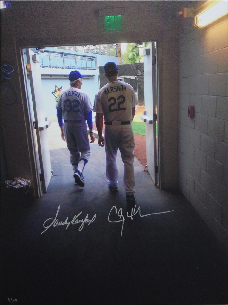 Sandy Koufax/Clayton Kershaw photo on canvas