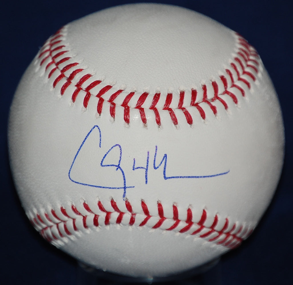 Clayton Kershaw official Rawlings MLB white baseball signed in blue ball point pen