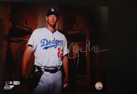 Clayton Kershaw signed 11X14 photo--Locker Room (unframed)