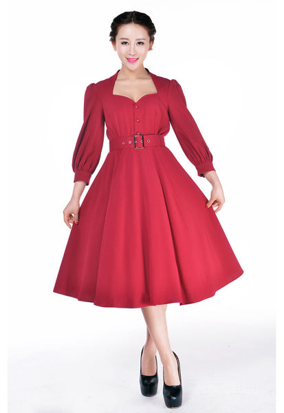 1940s Day Dresses 1940s Glamour Dress $57.95 AT vintagedancer.com