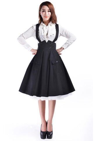 1950s Suspenders Skirt