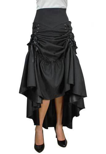 Steampunk Plus Size Clothing & Costumes Plus Three Way Lace Up Skirt $53.95 AT vintagedancer.com