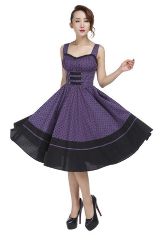 50s Retro Polka Dot Dress