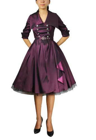 Belted Flared Dress