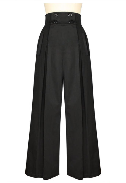 1940s Style Pants & Overalls- Wide Leg, High Waist Vintage Wide Leg Pants $42.95 AT vintagedancer.com