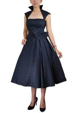 Bow Pleat Dress